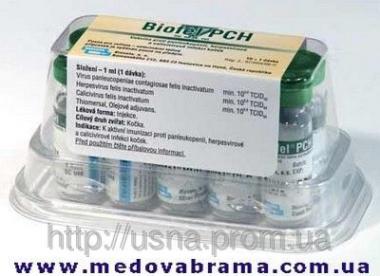 Биофел ПКГ (BIOFEL PCH), Биовета, Чехия — вакцина для активной иммунизации кошек (1мл)