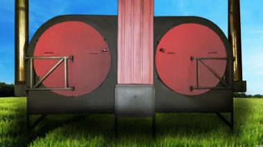 Углевыжигательная печь Фермер -К с водонагревательным котлом