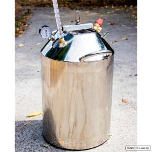 Автоклав огневой 40-литровый из нержавейки на 30 банок 0,5л.