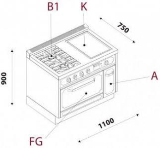 Кухонний блок CBL11FGAB1K