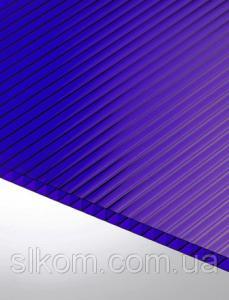 ПК сотовый Polygal 8 мм, синий, 2100х6000 СТАНДАРТ