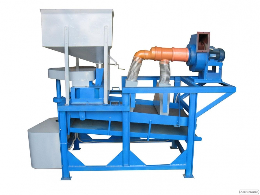 Установка обрушивания семян подсолнечника 500 кг/час