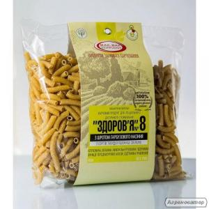 Макарони з ТВЕРДИХ СОРТІВ пшениці №8 з насінням ГАРБУЗА