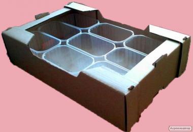 Картонный ящик под клубнику,малину,черешню,персик,виноград
