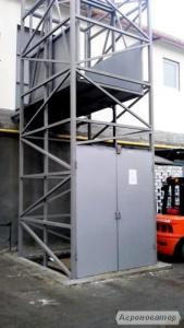 Приставной подъёмник-лифт монтаж снаружи здания. Производство!