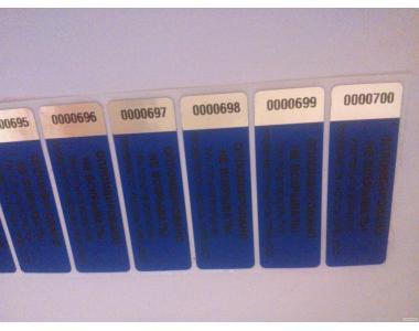 Пломбы пластиковые индикаторные номерные контрольн