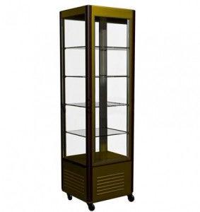 Кондитерский шкаф R400C Carboma Люкс (шокол-золотистый)