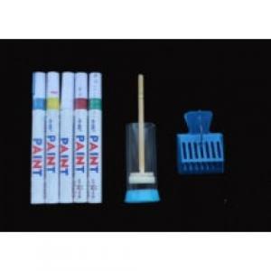 Набір для мітки маток (Флобер, метелик, маркера 5 шт. білий, червоний, синій, зелений, жовтий)