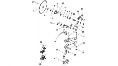 Запчастини для дискового сошника Unia S LS; XMS