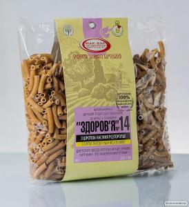 Макарони «Здоров'я» з рослинними добавками з тб. сортів пшениці