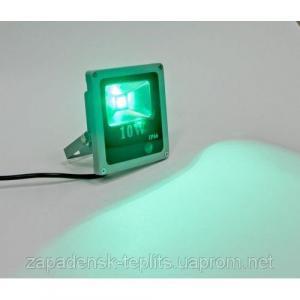 Світлодіодний прожектор LED 10Вт 515-530nm (зелений), IP66