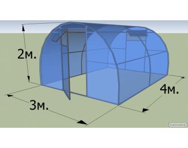 Теплица 3*4 метра из поликарбоната 6 мм