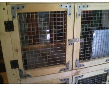 Клетка для кроликов 3 яруса + бункерные кормушки+маточники