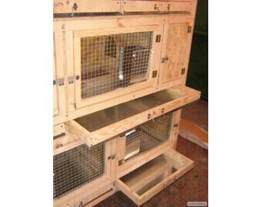 Клітка для кроликів 3 яруси + бункерні годівниці+маточники