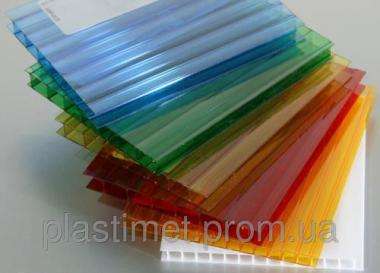 Сотовий (стільниковий) полікарбонат Marlon кольоровий 6000х2100х6 мм