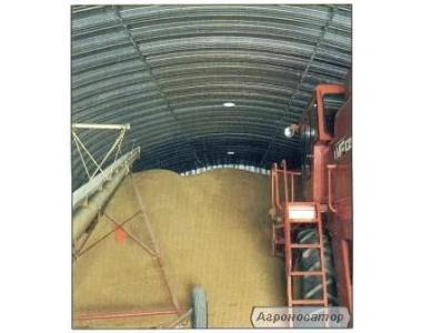 Зерносховища підлогового типу - сталеві комори