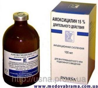 Амоксицилін 15% ІНВЕС, Іспанія — антибіотик групи пеніцилінів (100 мл)