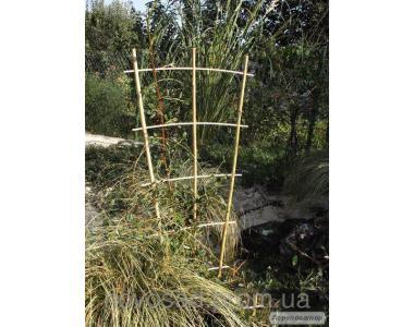 Бамбукова драбинка для підв'язки рослин на 3 опори. Бамбук
