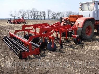 Стерневой культиватор КЛД-4 с тракторной техникой Т-150К, ХТЗ-120.