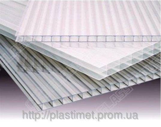 Полікарбонат сотовий (стільниковий) Carboglass прозорий  6000х2100х6 мм