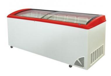 Морозильный ларь с гнутым стеклом ARO – 705/1 (7-корзины + колеса)