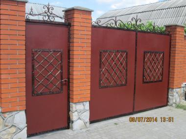 Металовироби з кованими елементами. ,ворота,огорожі,паркани,навіси