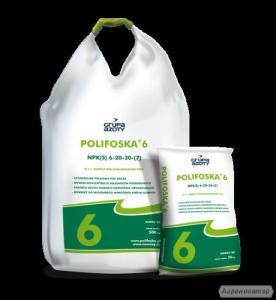 Комплексні мінеральні добрива Polifoska 6, 8, Krzem. Вир-во Польщі