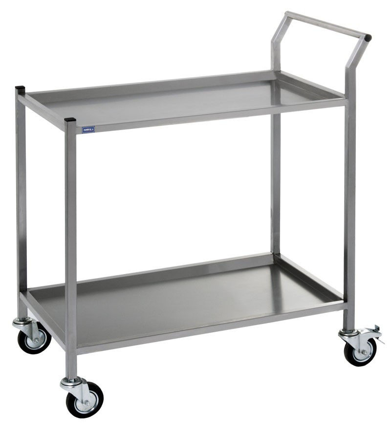 Сервірувальні візки на колесах з нержавіючої сталі (нержавіюча сталь)