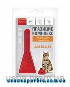 ПРАЗИЦИД-КОМПЛЕКС капли на холку для котов (1 пип. х 0,85 мл)