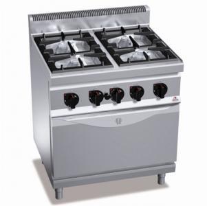 Газова плита 4-х конфорочна, з духовкою (7,8 кВт) Bertos G7F4 + FG