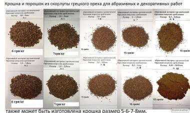 Шкаралупа волоського горіха біопаливо і абразив