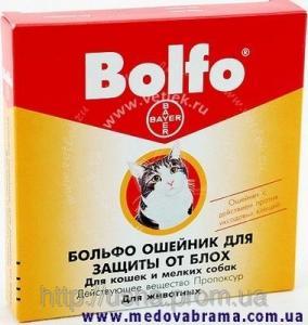 Нашийник для котів та дрібних собак Больфо 35 см