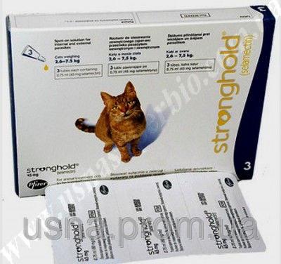 Стронгхолд для кішок масою від 2,6 до 7,5 кг, 1 піп.х 0,75 мл (45 мг)