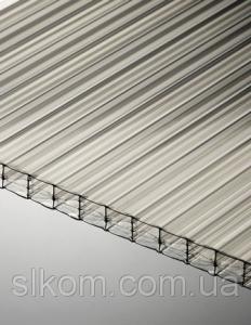 Поликарбонат сотовый Polygal 10 мм, прозрачный, 2100х6000 ТИТАН СКАЙ