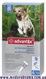 Адвантикс ® (Advantix) для собак больше 25 кг от клещей, блох и др.