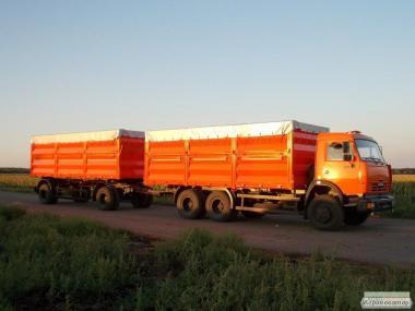 Зерновозы-самосвалы, перевозка сельскохозяйственной продукции