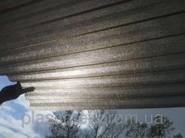 Профільний полікарбонат (прозорий шифер) Шагрінь бронза