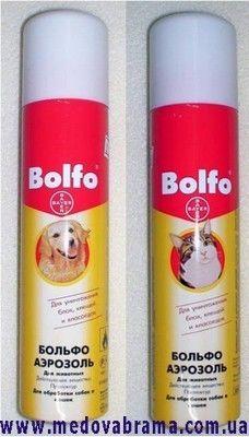 Спрей від бліх та кліщів для собак і кішок Больфо 250 мл