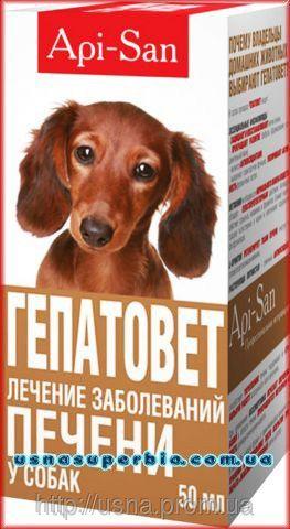 Гепатовет суспензия для лечения печени у собак (50 мл) Апи-Сан, Россия