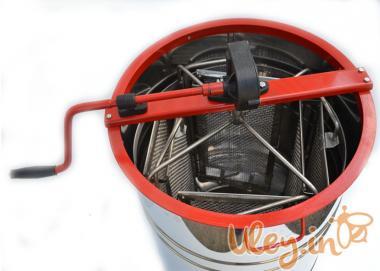 Медогонка Алюмоцинковая, з поворотом касет 4-х рамкова під рамку «РУ
