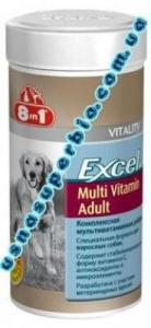 8 в 1 Мультивитаминый комплекс для дорослих собак Vitality Adult Multi Vitamin ( 70 шт) (105657; 108665)