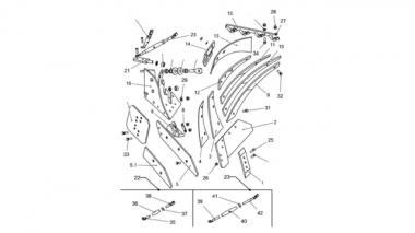 Запчастини корпусу плуга Unia, Ажурний XXL лівий