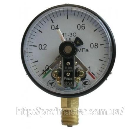 Манометр электроконтактный МТ-3С сигнализирующий вакуумметр, мановакуумметр МТ-3С, ЭКМ-100