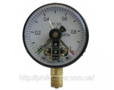 Манометр електроконтактний МТ-3С що сигналізує вакуумметр, мановакуумметри МТ-3С, ЕКМ-100
