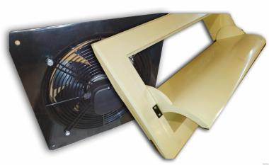 Осьовий витяжний вентилятор, Припливні клапани. Вентиляція мініферм