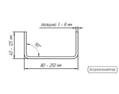 Швеллер гнутый от 60мм до 300мм