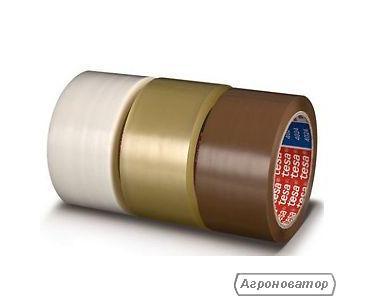 Клейкая упаковочная лента-скотч прозрачная, коричневая