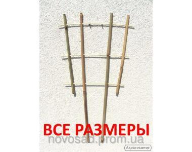 Бамбукова драбинка для підв'язки рослин на 4 опори. Бамбук