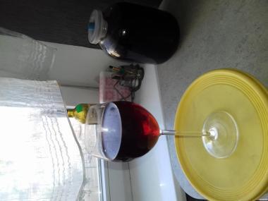 Вино домашнее красное полусухое