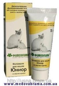 Фитожеле для кошек Юниор со вкусом курицы, Веда, Россия (75 г)